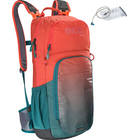 EVOC CC Sac à dos Lite Performance 16l + réservoir d'hydratation 2l, chili red/petrol
